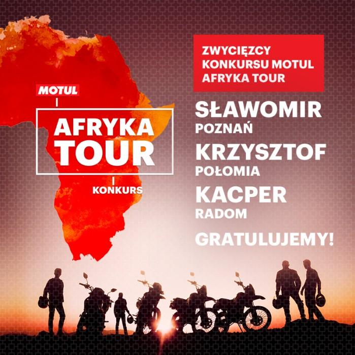 Motul Afryka Tour rozstrzygniecie konkursu