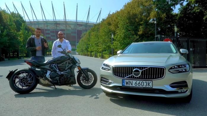 Ducati XDiavel vs Volvo V90 Stadion Narodowy