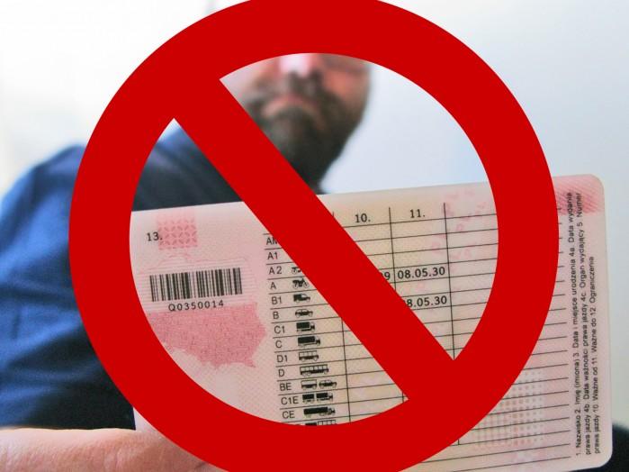 zatrzymanie prawa jazdy niezgodne z konstytucja