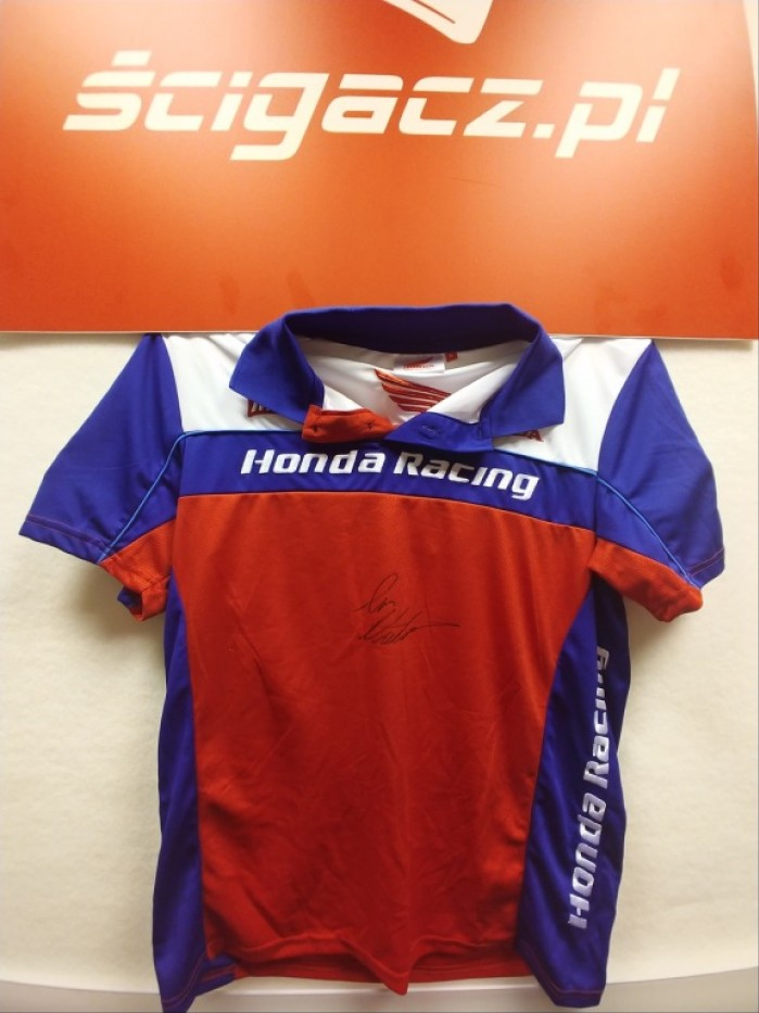Koszulka Polo Honda Racing z autografem IAN HUTCHINSON