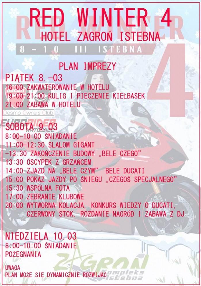 Plan Ducati Red Winter 2019