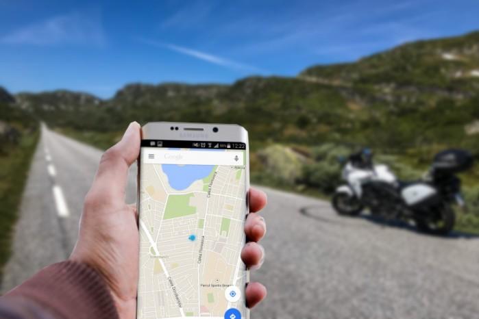 Mapy Google dla motocyklisty