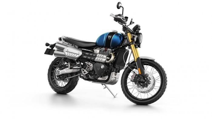 Scrambler1200 XE Blue and Black FRONT ANGLE1920x1080