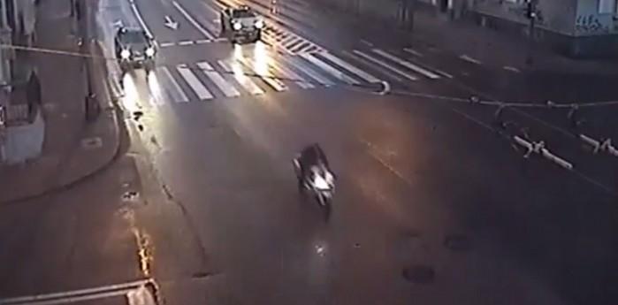 ucieczka na motocyklu