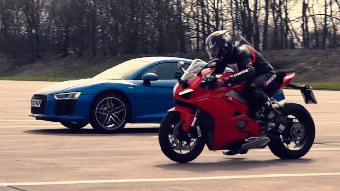 Ducati V4 kontra Audi R8
