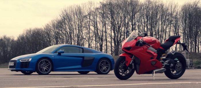 Ducati V4 vs Audi R8