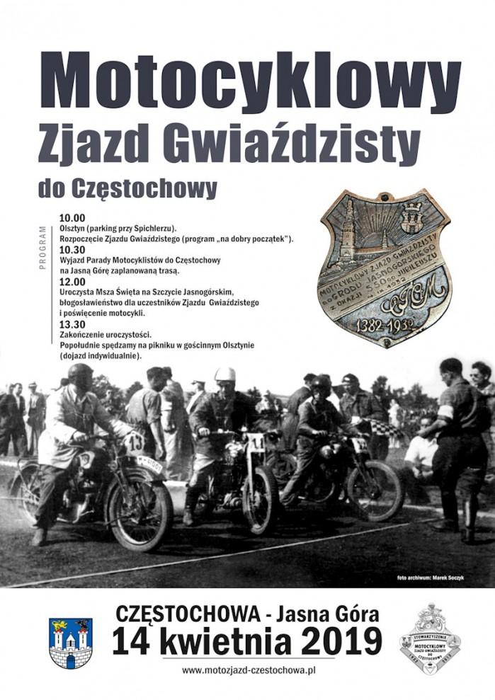 Motocyklowy Zjazd Gwiazdzisty do Czestochowy
