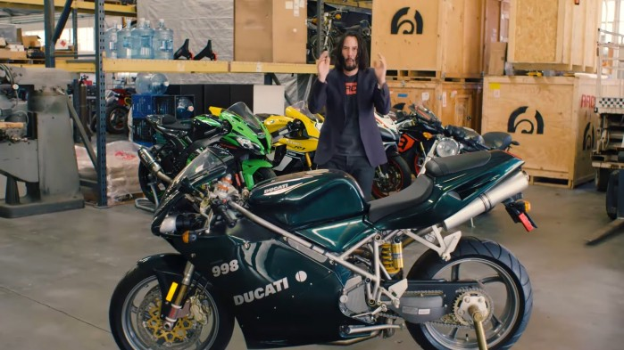 Keanu Reeves Ducati 998 Matrix