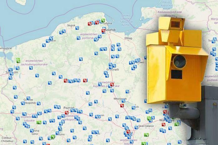 fotoradar mapa urzadzen canard