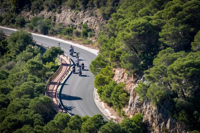 motocyklem do hiszpanii