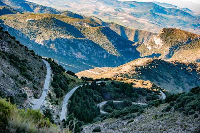 zakrety hiszpania motocyklem