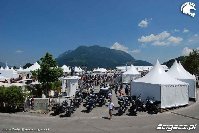 Widok na miasteczko BMW Motorrad Days