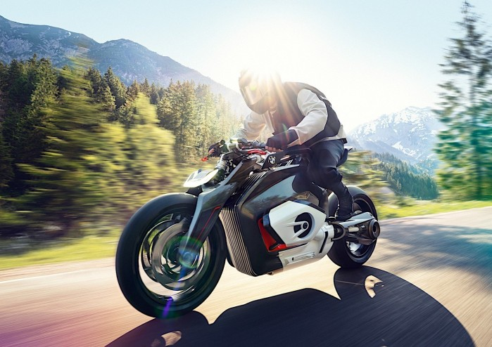 bmw motorrad goes electric with naked vision dc roadster 1