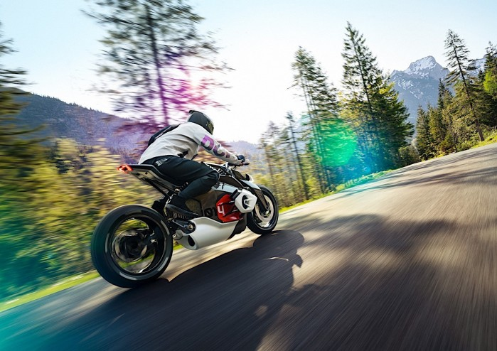 bmw motorrad goes electric with naked vision dc roadster 2