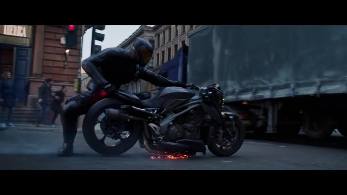 Triumph Motorcycle Driven by Idris Elba in Fast Furious Presents Hobbs Shaw 1