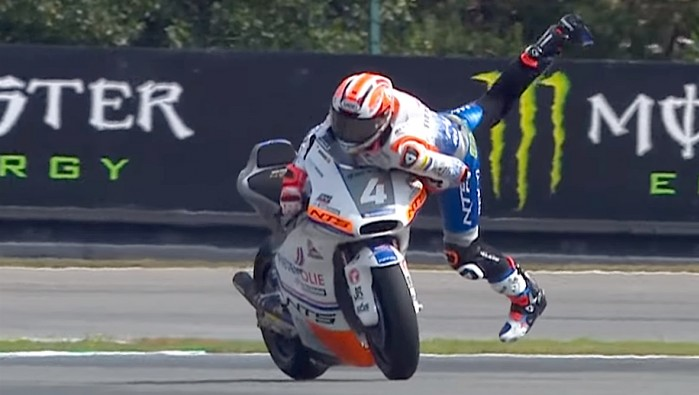steven odendaal epic save czech gp moto2