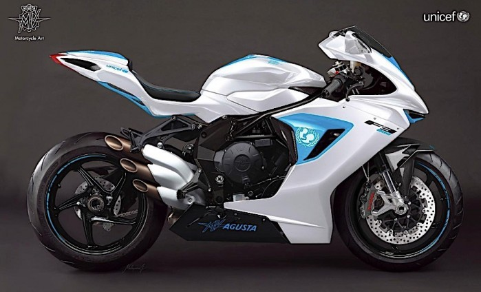 one off mv agusta f3 800 sold for eur100000 at unicef fundraiser gala 1