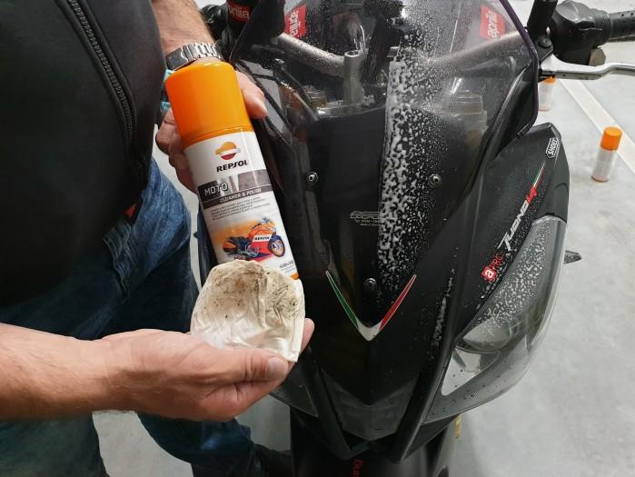 Scigacz test repsol olej smar plyn hamulcowy zawieszenie Marquez 62