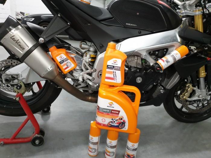 Scigacz test repsol olej smar plyn hamulcowy zawieszenie Marquez 6
