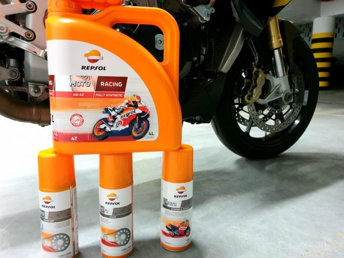 Scigacz test repsol olej smar plyn hamulcowy zawieszenie Marquez 73
