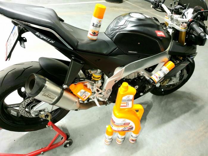 Scigacz test repsol olej smar plyn hamulcowy zawieszenie Marquez 77