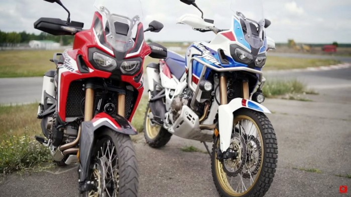 Honda Africa Twin vs Honda Africa Twin Adventure Sports na torze rallycross 1