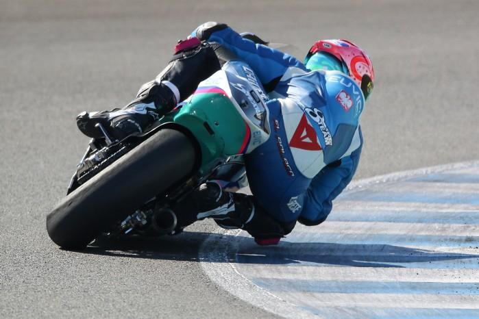 Piotr Biesiekirski Moto2 Jerez 1
