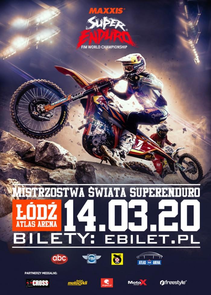 plakat Mistrzostwa Swiata SuperEnduro 2019 2020 Lodz 5