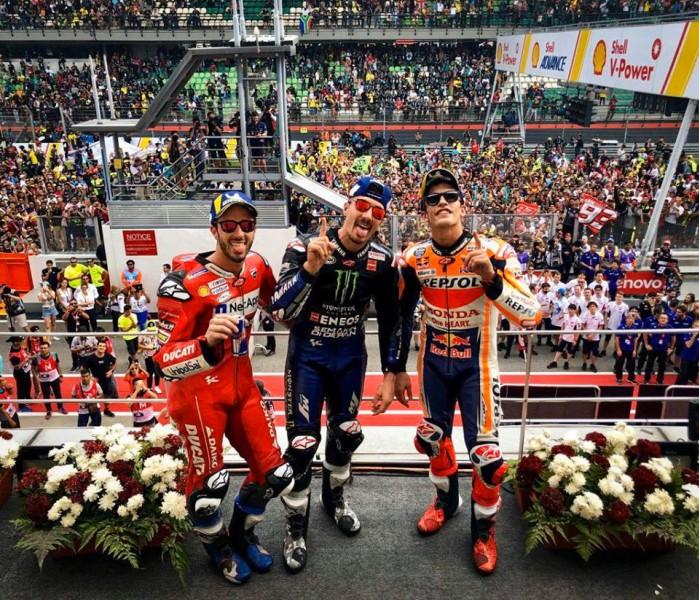 GP Malezji podium
