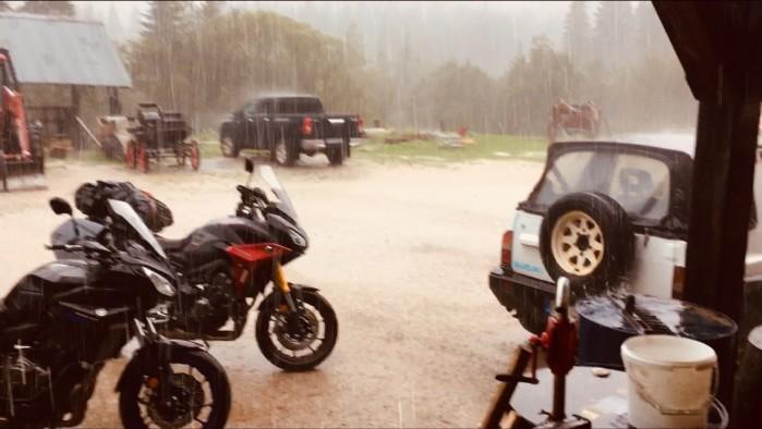 Tracery deszcz