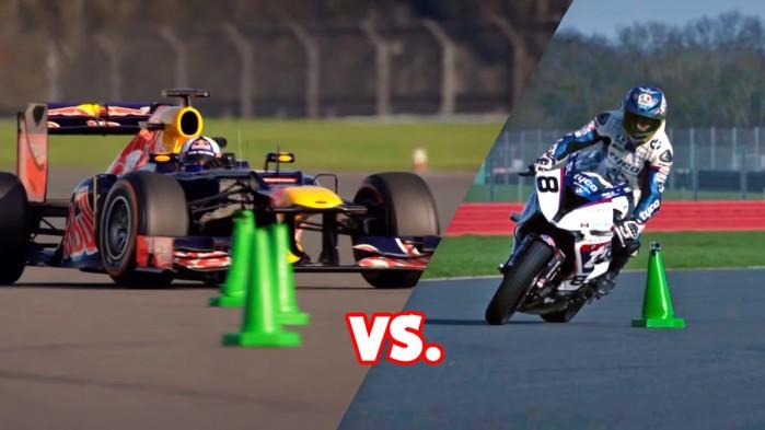 Motocykl vs bolid F1