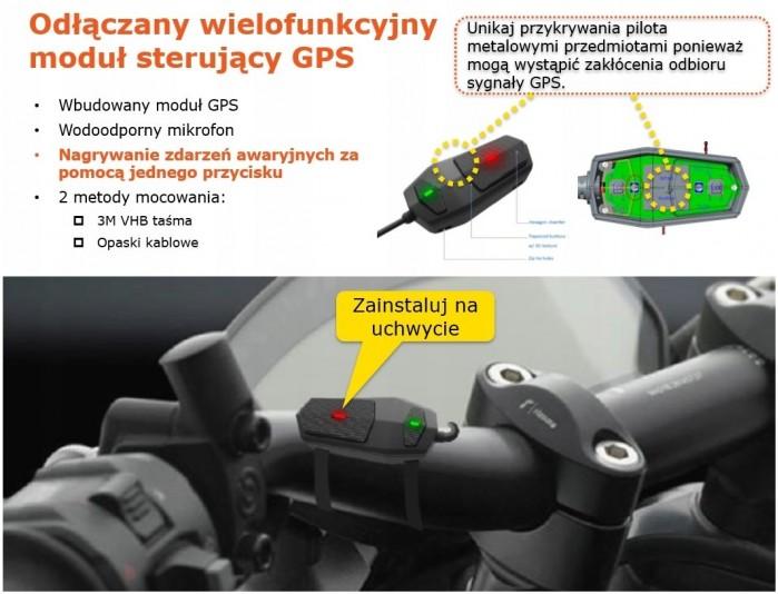 Mio Mivue M760D Dual Sony Starvis wideorejestrator motocyklowy