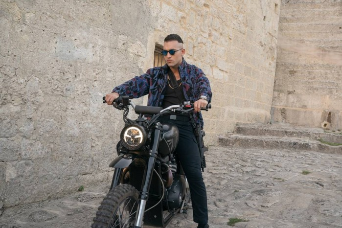 3Triumph Scrambler 1200 XE ridden in No Time To Die by Primo on location in Matera Italy LR