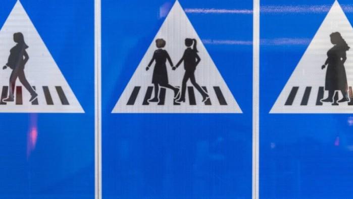 znaki drogowe z kobietami genewa