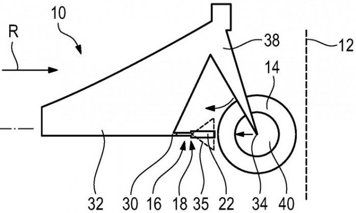 bmw patent strefa zgniotu w motocyklu 01