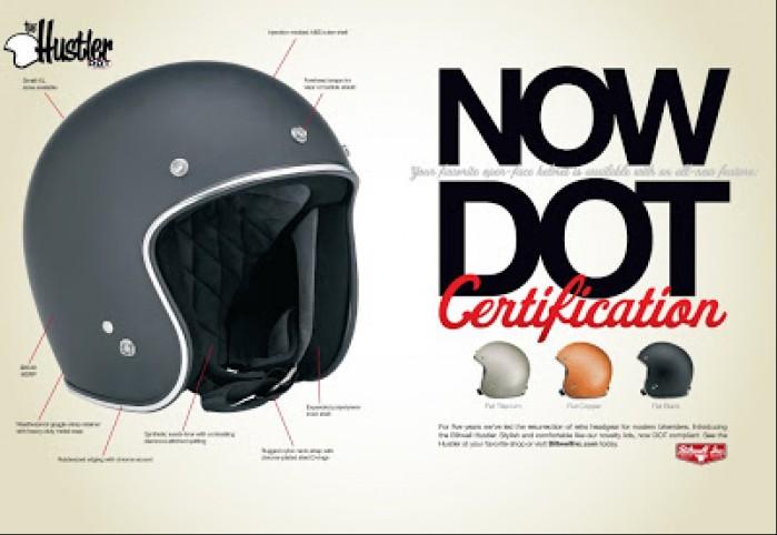 Biltwell DOT Hustler Helmet