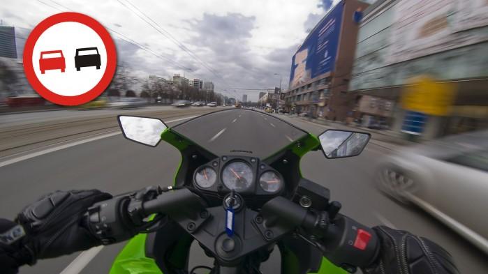 wyprzedzanie motocykl