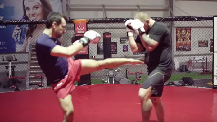 Barry Juras sparring