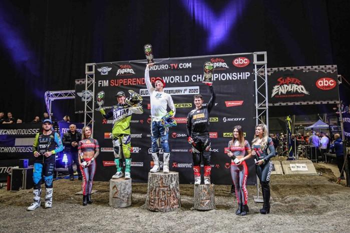 SuperEnduro Budapeszt podium Junior
