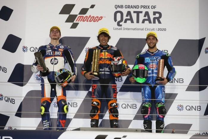 MotoGP Moto2 Katar wyscig podium