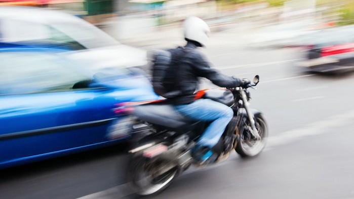 motocykl martwe pole