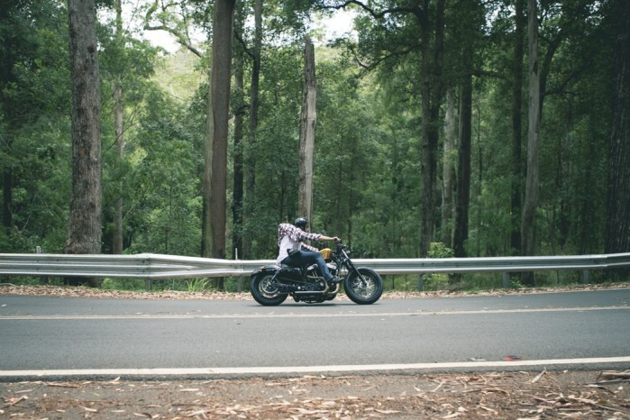moto ride forest