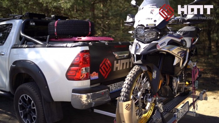 Rampa do transportu motocykli HMT