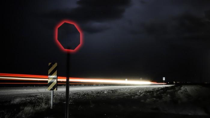 znak widmo stop