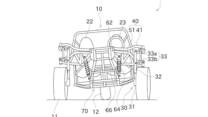 Kawasaki three wheeler patent fig 4