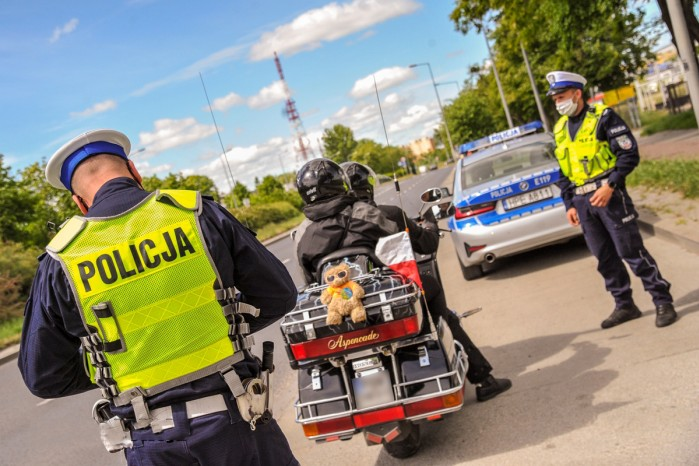 policja motocykl gold wing