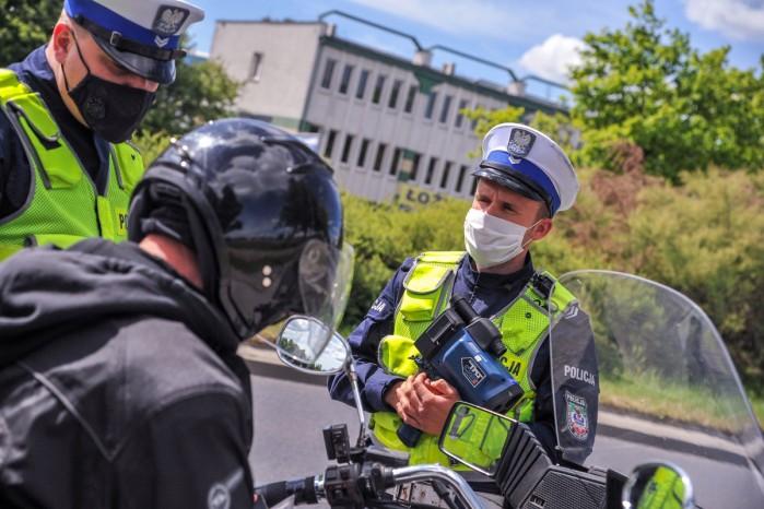 policja motocykl kotrola