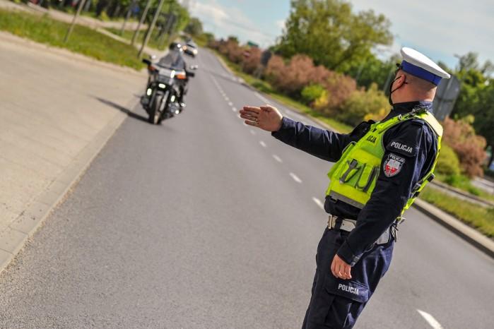 policja motocykl zatrzymanie