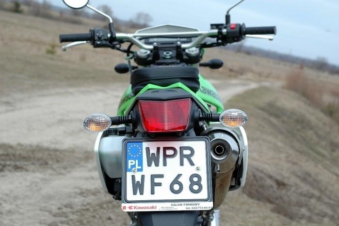 Kawasaki tablica rejestracyjna zz