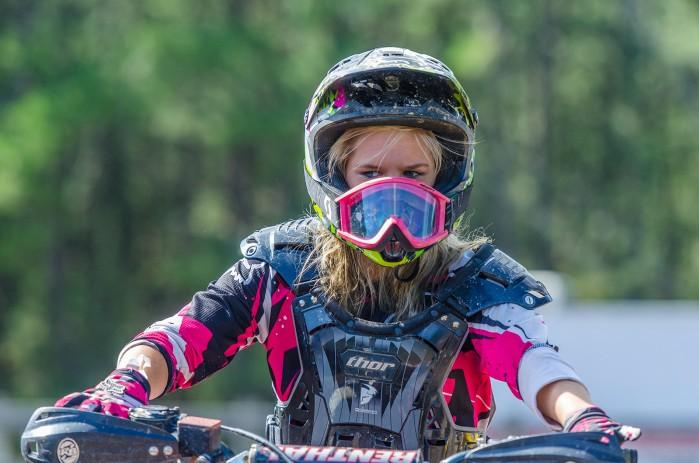 dziewczyna motocykl cross